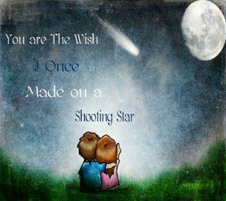 Обои на телефон love, u r my wish, любовь, милые, звезда, пара, мой, дети, пожелание