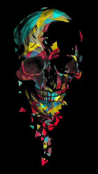 Обои на телефон череп, цветные, gfd, colored skull