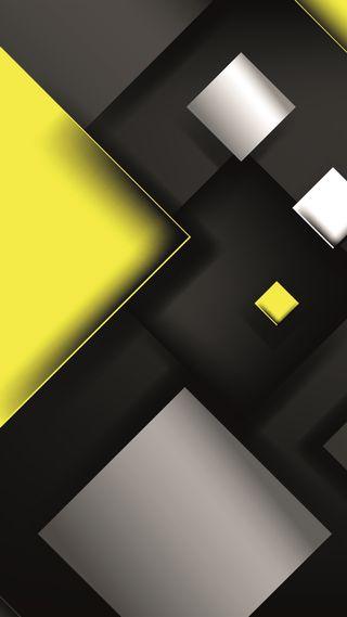 Обои на телефон квадраты, супер, серые, серебряные, линии, красота, желтые, абстрактные, s7