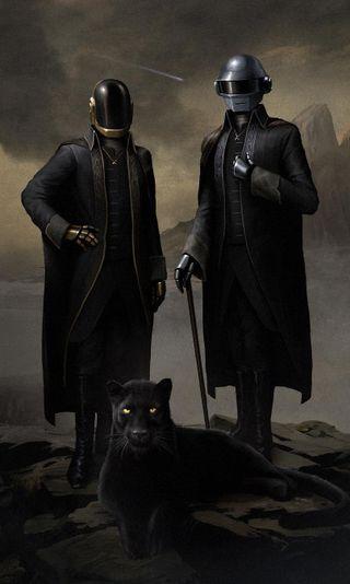 Обои на телефон панк, черные, кошки