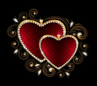 Обои на телефон сердце, роскошные, любовь, валентинка, бриллиант, блестящий, luxury hearts, luxury, love