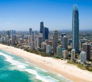 Обои на телефон берег, пляж, море, золотые, города, австралия, queensland, gold coast