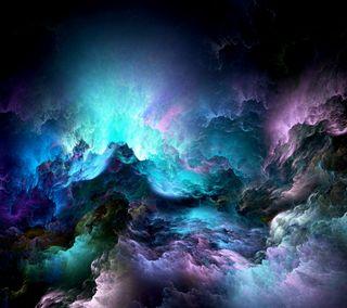 Обои на телефон цветные, небо, синие, облака, нереально, абстрактные