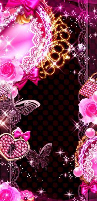 Обои на телефон princess dreams, розовые, сердце, золотые, симпатичные, блестящие, девчачие, мечта, сверкающие, принцесса, мечты