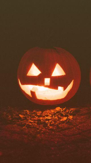 Обои на телефон тыква, хэллоуин, смайлики, осень, zedgepumps18, jackolantern smile, gourds