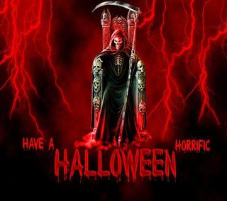 Обои на телефон жнец, череп, хэллоуин, ужасы, темные, страшные, смерть, кровь, гром, ангел