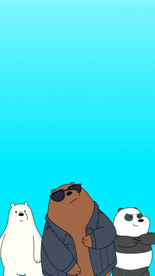 Обои на телефон отряд, синие, сеть, мультфильмы, мой, медведи, this my squad