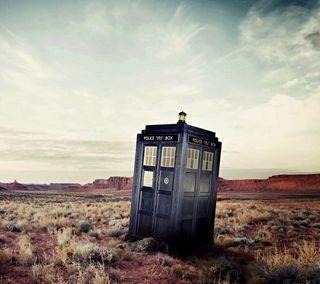 Обои на телефон синие, небо, время, пустыня, полиция, коробка, доктор, британия, кто