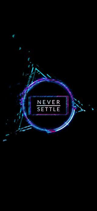 Обои на телефон решить, цифровое, никогда, неоновые, любовь, логотипы, oneplus, never settle oneplus, love