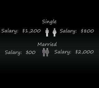 Обои на телефон один, цитата, поговорка, новый, комедия, забавные, женщина, single or married, married, man