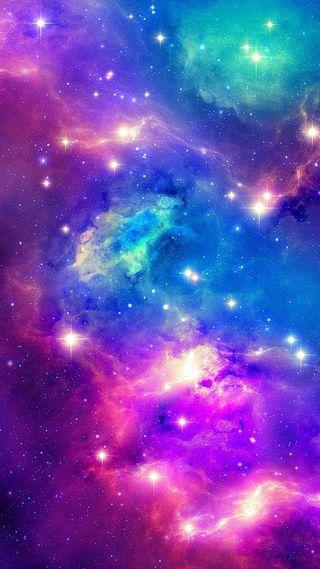 Обои на телефон солнечный, туманность, система, синие, розовые, размытые, красочные, космос, дым, галактика, galaxy smoke, galaxy