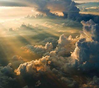 Обои на телефон солнечный свет, солнце, облака, небо