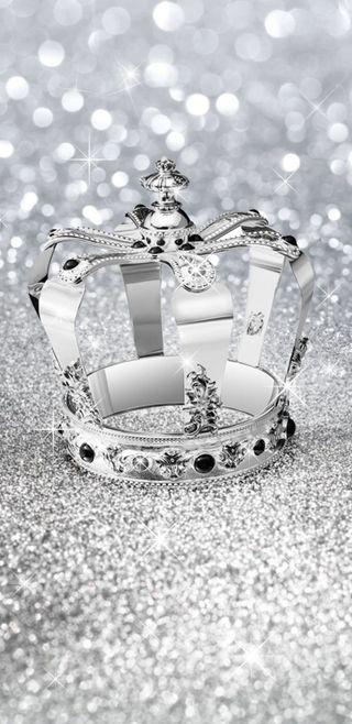 Обои на телефон корона, симпатичные, серебряные, сверкающие, кристалл, блестящие