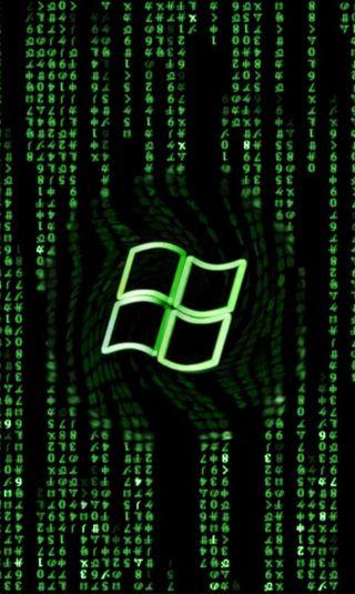 Обои на телефон код, зеленые, windows, mcode