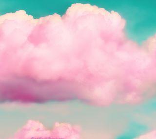 Обои на телефон облачно, розовые, облака, небо