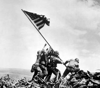 Обои на телефон флаг, морские пехотинцы, us marines, iwo jima, flag raising