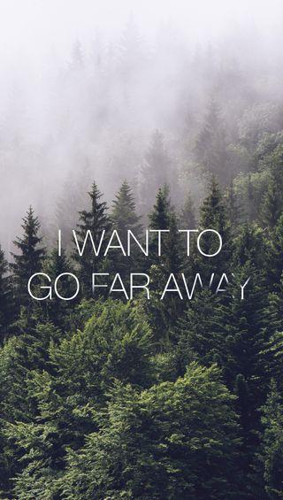 Обои на телефон далеко, go far away, go, far away