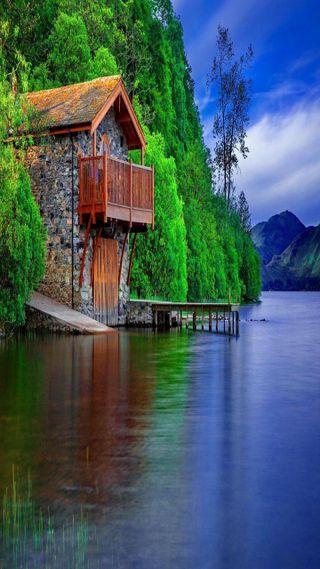 Обои на телефон взгляд, приятные, прекрасные, озеро, милые, дом, lake house