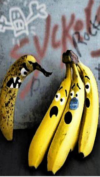 Обои на телефон фрукты, забавные, банан