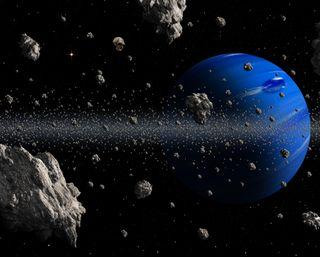 Обои на телефон планеты, мир, космос, камни, земля, галактика, galaxy, 3д, 3d space