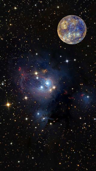 Обои на телефон звезда, черные, темные, космос, mercury