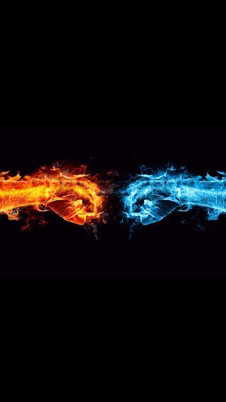 Обои на телефон руки, ультра, супер, огонь, вода, амолед, 4k fire and water, 4k
