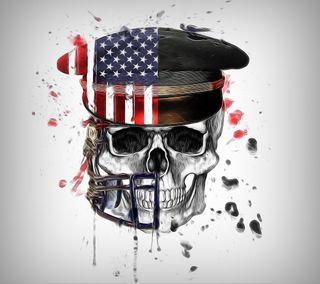 Обои на телефон фрактал, череп, арт, американские, абстрактные, art