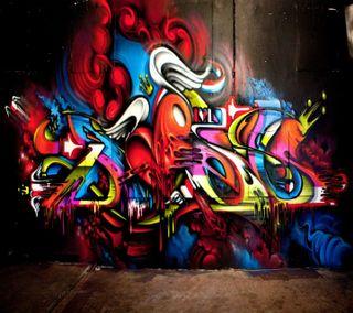 Обои на телефон граффити, стена, приятные, новый, крутые, красочные, дизайн, вид, hd, 2014