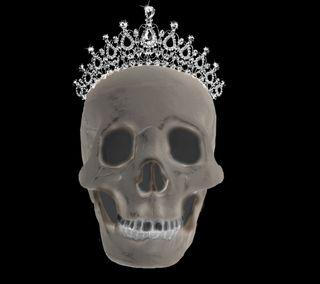 Обои на телефон эмо, череп, смерть, кости, готы, tiara, royal til death, royal, hd, 3д, 3d