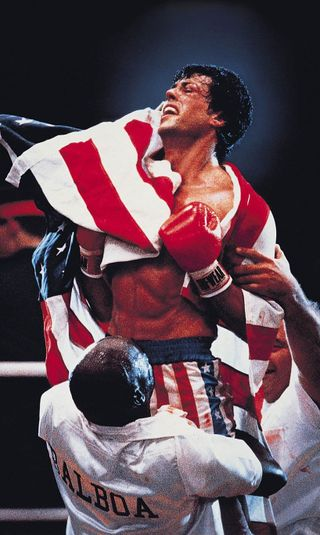 Обои на телефон бой, флаг, темные, рокки, победитель, америка, stalone, balboa