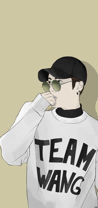 Обои на телефон фан, рисунки, певец, кпоп, корейские, команда, китай, знаменитость, арт, wang, team wang, kpop, jackson wang