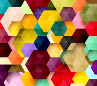 Обои на телефон шестиугольники, геометрия, цветные, фон, абстрактные, colored hexagons