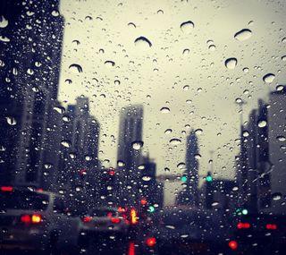 Обои на телефон дождь, абстрактные