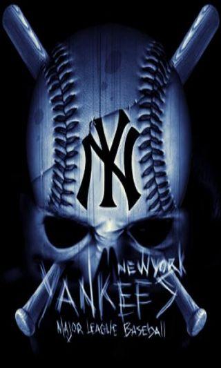 Обои на телефон art, mlb, ny yankees, yankee skull, арт, череп, спорт, спортивные, команда, бейсбол, янки