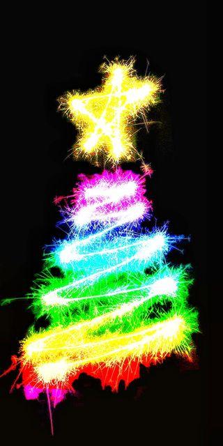 Обои на телефон рождество, каникулы, санта, arbol de navidad