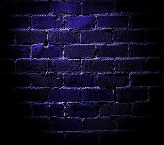 Обои на телефон кирпичи, стена, синие, blue brick wall