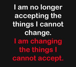 Обои на телефон позитивные, поговорка, менять, verse, change and accept, accept