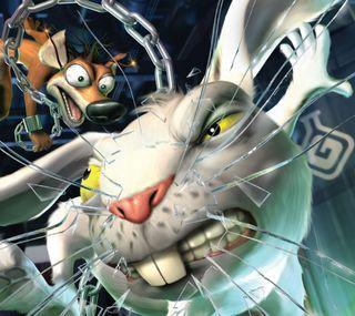 Обои на телефон кролики, экран, сломанный, против, мультфильмы, лиса, кролик, rabbit vs fox, brokenscreen