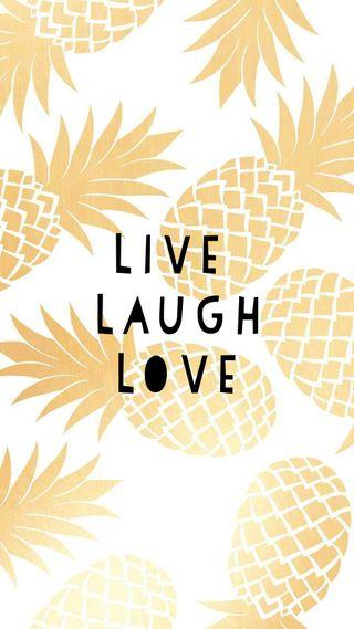 Обои на телефон смех, любовь, pinneapple, love, live laugh love