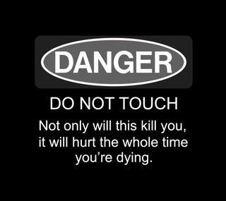 Обои на телефон опасные, экран, шутка, цитата, трогать, телефон, поговорка, забавные, do not touch