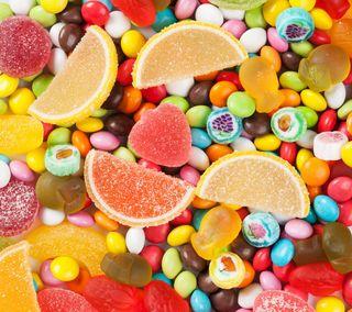 Обои на телефон сладости, сахар, оранжевые, красочные, конфеты, желтые, желе