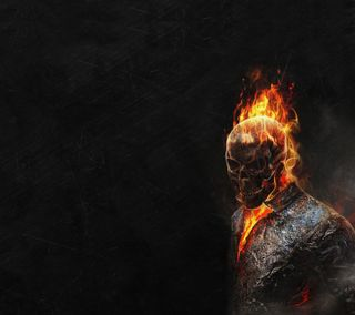 Обои на телефон всадник, череп, ужасы, рисунки, призрак, пламя, огонь, гореть, голливуд, байк