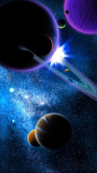 Обои на телефон планеты, планета, космос, вселенная, espace