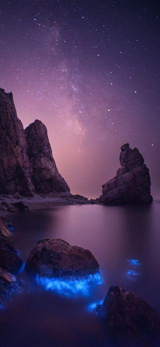 Обои на телефон сяоми, пейзаж, ми, галактика, xiaomi mi 9, galaxy