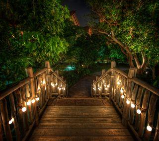 Обои на телефон рай, путь, ночь, лестница, вечер, evening path