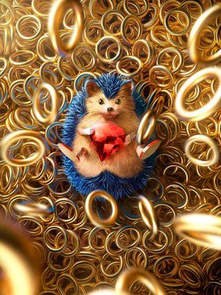 Обои на телефон соник, синие, сега, кольца, игра, золотые, желтые, еж, бег, sonic rings, gems, fast