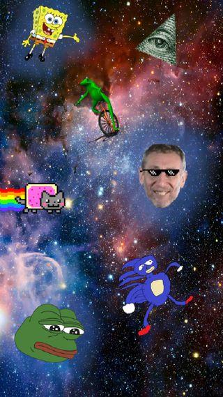 Обои на телефон мемы, мем, космос, галактика, meme galaxy 2, galaxy