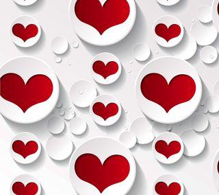 Обои на телефон векторные, фон, сердце, любовь, красые, белые, абстрактные, love