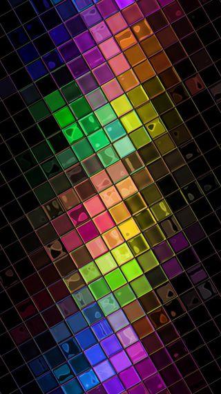 Обои на телефон квадраты, красочные, абстрактные
