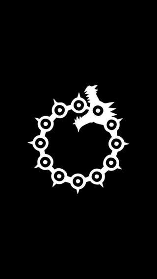 Обои на телефон мелиодас, черные, фон, смертоносный, семь, логотипы, дракон, грехи, грех, белые, the seven deadly sins, sin of wrath, dragon sin of wrath